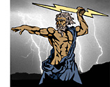 lightning throws by Thor